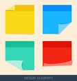 Colored stickers paper for notes in a flat style vector image