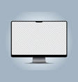 computer mockup transparent display screen vector image