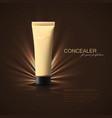 concealer or foundation beige tube ad poster vector image vector image