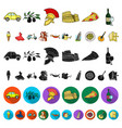 country italy cartoon icons in set collection for vector image