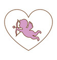 cupid angel with heart vector image vector image