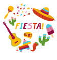 fiesta banner lettering design vector image vector image