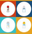 flat icon sodium set of saltshaker salt sodium vector image