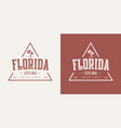 florida state textured vintage t-shirt and vector image vector image