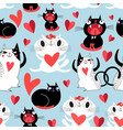 funny seamless bright festive pattern lovers vector image vector image