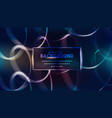 glowing spirals with light effect shining lines vector image