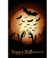 Halloween Poster Grungy Background vector image vector image