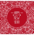 Happpy new year border vector image