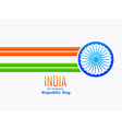 indian republic day design made with line and vector image vector image