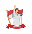indonesia independence day figure bung karno vector image vector image