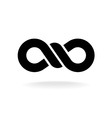 Infinity knot logo Black chain link symbol with vector image vector image
