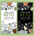 keto flyer healthy food low carb text illus vector image