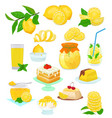 lemon food lemony yellow citrus fruit and vector image