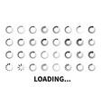 loading icon big set vector image
