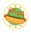 logo hot dog for fast food vector image vector image