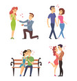 love couples celebrating valentines day funny vector image vector image