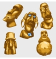 Maya sculptures from gold with sapphires vector image vector image