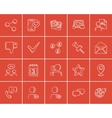 Media sketch icon set vector image