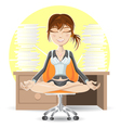 Meditation At The Office vector image vector image