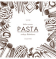 menu template with italian pasta vector image vector image
