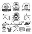 monochrome labels of laundry service vector image vector image