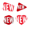 new stickers collection set red labels vector image vector image