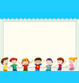 paper background with happy children vector image vector image