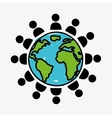people world vector image