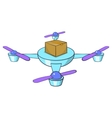 Quadcopter icon cartoon style vector image