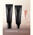 realistic cosmetic product template vector image vector image