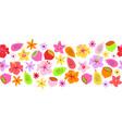 seamless border summer fruit flower border vector image vector image