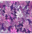seamless floral pattern with daisies vector image