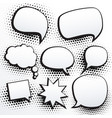 set of empty comic chat bubble in vector image
