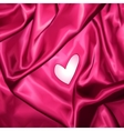 Smooth elegant pink silk with heart vector image vector image