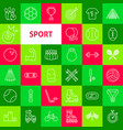 sport line icons vector image vector image