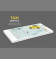 taxi service concept business infographic vector image