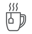 tea cup line icon drink and beverage vector image