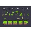 Tile set for Platformer Game Seamless vector image