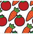 tomato and carrot vegetables fresh seamless vector image vector image