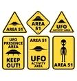 Ufo danger vector image