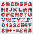 uk flag alphabet vector image vector image