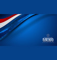 usa background for independence day vector image vector image