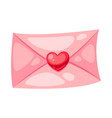 valentines day letter with heart vector image