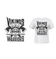 viking warrior t-shirt print mockup sport team vector image