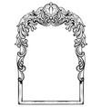 vintage imperial baroque mirror frame vector image vector image