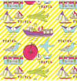 vintage travel wallpaper vector image