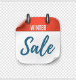 winter sale calendar template for your projects vector image