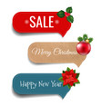 xmas labels set vector image