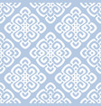 white and blue damask vector image