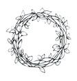 decorative laurel wreath isolated on white vector image